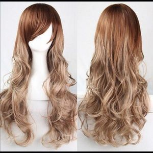 Accessories - Heat Resistant Wavy Hair Full Wig And Lace